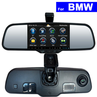 Android Touch Screen Car Rear View Mirror DVR GPS Bluetooth WIFI for BMW Mini Coupe X1 X3 X5 X6 E46 3 5 7 Series Auto Monitor