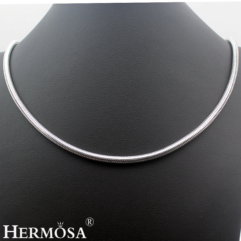 2017 Latest Design Vintage Hot BALI STYLE 925 Sterling Silver 4mm Snake Chain Necklace 20/22 inch HERMOSA JEWELRY Unique Fashion hermosa jewelry hot multi color round design 925 sterling silver fashion earring st81