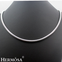 2017 Latest Design Vintage Hot BALI STYLE 925 Sterling Silver Snake Chain Necklace 20 Inches HERMOSA JEWELRY Unique Fashion