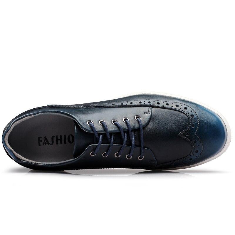 Centímetros Couro Vestido Merkmak Sapatos Shoes Shoes Shoes 6 Calçado Novos De Luxo Black Leathershoes Sapatas Homens Leather Homem Formais Design Confortável Aumentada Retro Dos Homens's Dentro blue redwine coffee Marca qUr7UIw