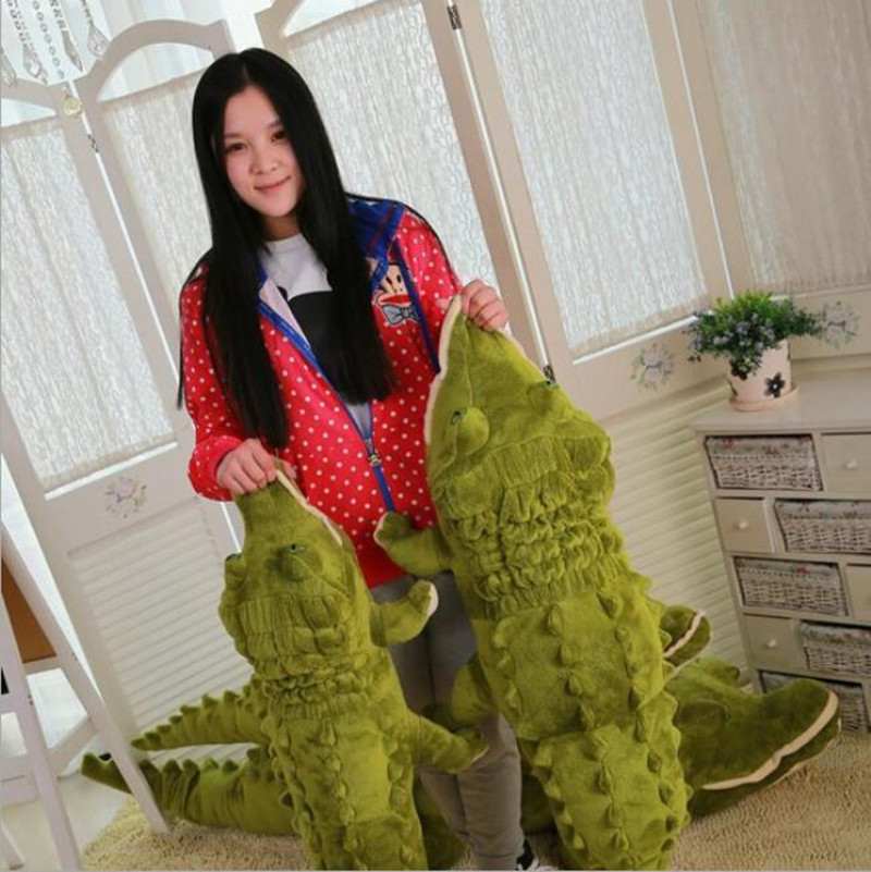 Hot One Piece Huge Crocodile Kawaii Stuffed Animals Crocodile Plush Toy Cushion Pillow Soft For Kids Gifts Juguetes Brinquedos 5pcs lot pikachu plush toys 14cm pokemon go pikachu plush toy doll soft stuffed animals toys brinquedos gifts for kids children