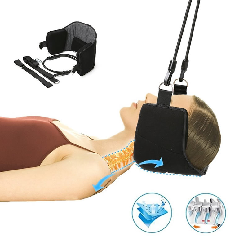 Fitness Head Hammock - Neck Relief Hammock Stretcher Cervical Traction Support Brace Massager for Shoulder Ache and Neck Pain