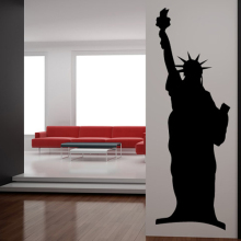 Statue Of Liberty Wall Stickers New York City America USA Wall Sticker Home Decor Art Decals Hot Selling Wallpaper Mural SA330