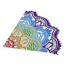 Flower Shape Indian Mandala Yoga Mat