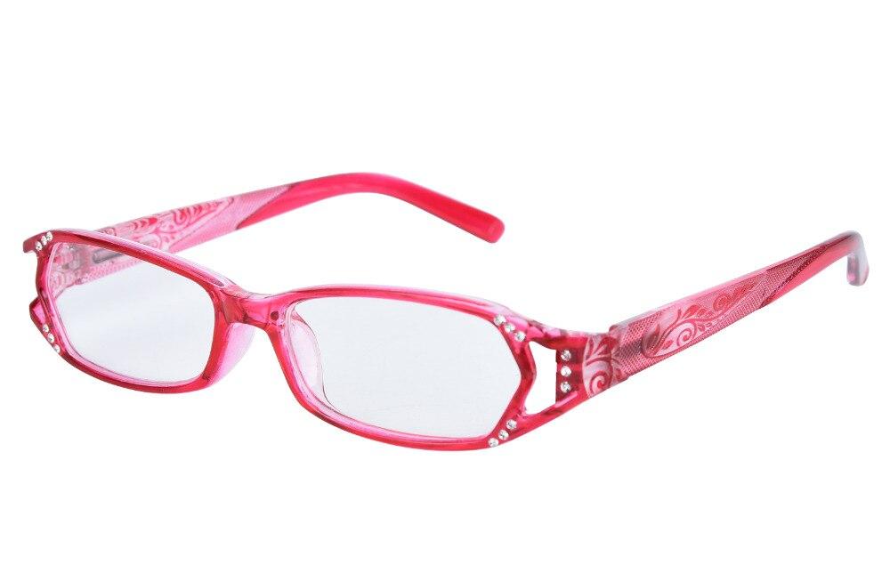 Agstum Womens Quality Readers Spring Hinges Eyeglasses Reading Glasses With Rhinestone  +1 +1.5 +1.75 +2 +3 +4