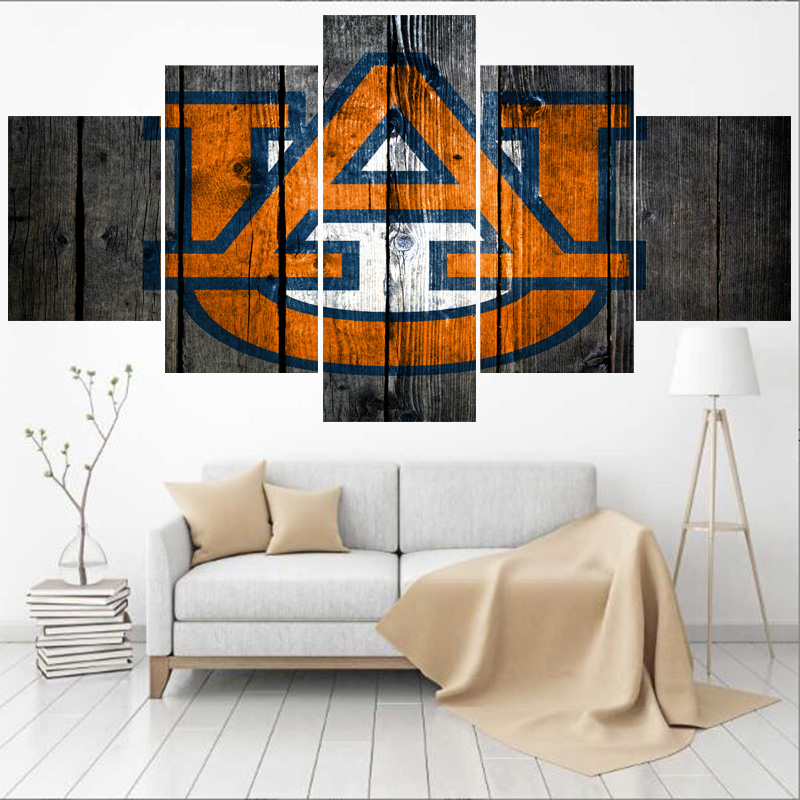 US $6.08 24% OFF|University Rugby Team Auburn Tigers Paintings Modern Home  Decor Living Room Bedroom Wall Art Canvas Print Painting Calligraphy-in ...