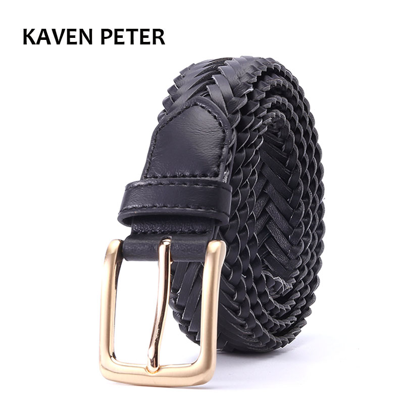 Knitted Belt Women Good Pin Buckle Female Strap Newest Desgin Fashion Lady Braided Belts Handwork Belt For Knitted Black Color