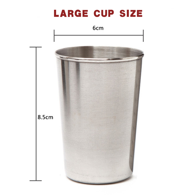 4 Stainless Steel Cups With Leather Case 2