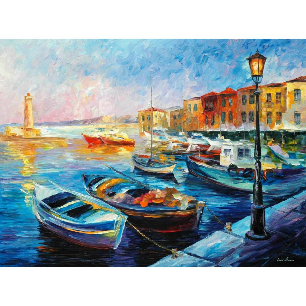 Contemporary art fishing <font><b>boats</b></font> <font><b>knife</b></font> oil painting canvas beautiful landscape pictures for wall decor image