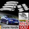 Для VW Golf 5 Mk5 Chrome Дверные Ручки Обложки Хром Стайлинг Volkswagen Автомобильные Аксессуары Наклейки Автомобилей Стайлинг