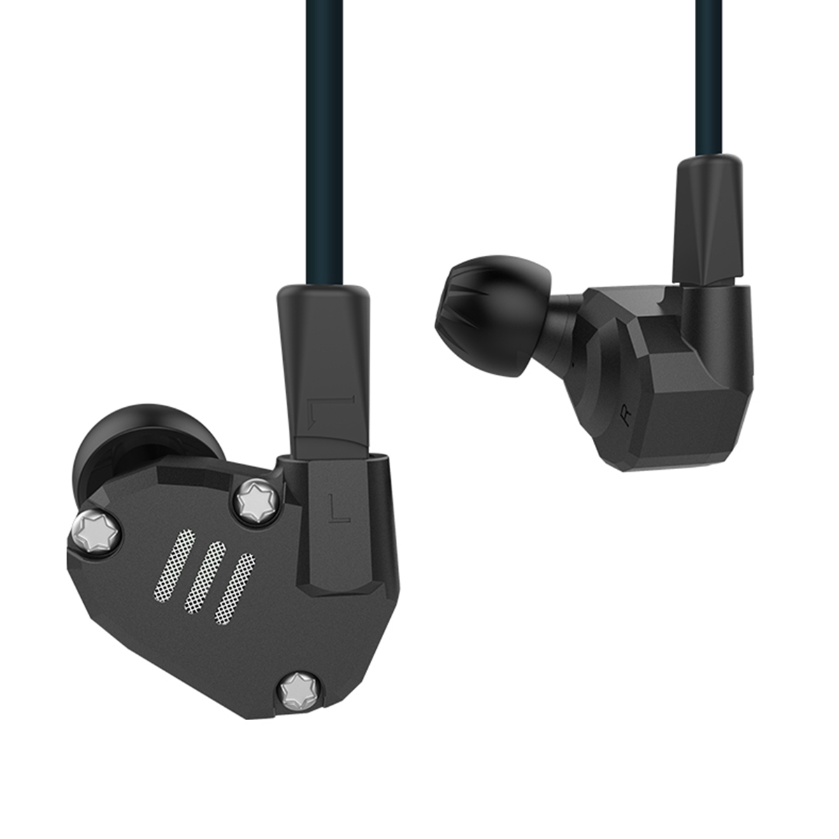 KZ ZS6 Eight Driver Earphone 2DD+2BA Dynamic And Armature In Ear HIFI Stereo Sport Headset Detachable Bluetooth Upgrade Cable kz zs6 best quality sport earphone metal hifi headphone 8 drivers dynamic armature hybrid amazing sound portable theatre cinema