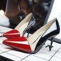 Sexy Clube das Mulheres Sapatos De Salto Alto Senhoras Apontou Boca Sapatos Meninas de Salto Alto Europeia Moda de Correspondência de Cores Oco Transparente