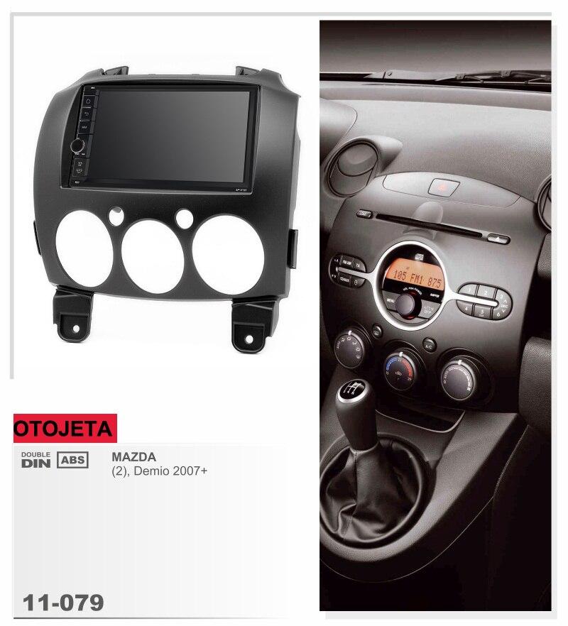 Misura per Mazda 2 Demio 2007 + quad core android 8.1 telaio più auto radio audio stereo lettore multimediale unità principale FM registratore a nastro