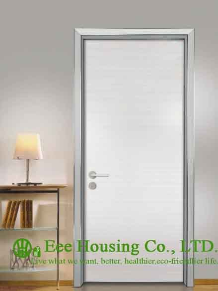 40mm Thickness Aluminium Office Doors Aluminum Frame Interior