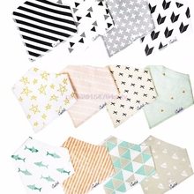 4Pcs Kids Baby Bibs For Boy&Girl Burp Cloths Waterproof Dribble Bibs Bandanas #H055#