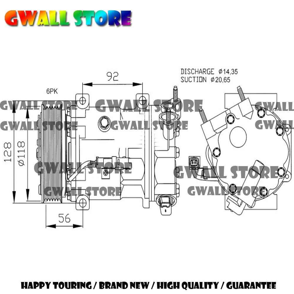 new auto ac compressor for citroen berlingo b9 c4 c5 for peugeot 3008 307 508 6453ql [ 1000 x 1000 Pixel ]