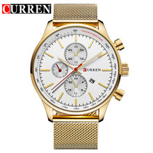 CURREN New Gold Quartz Watches Men Fashion Casual Top Brand Luxury Wrist Watches  Clock Male Relogio Masculino Roloj Hombre 8227