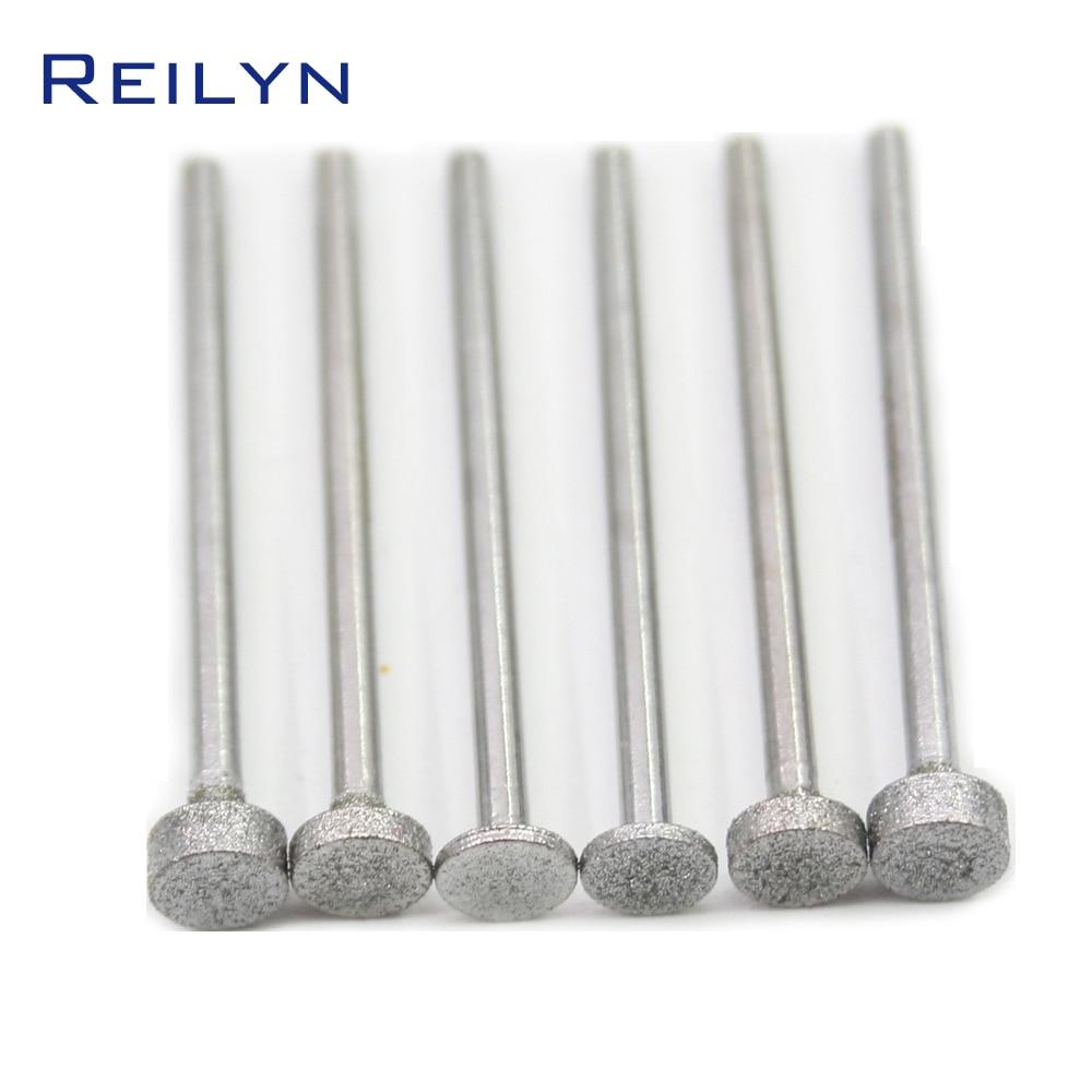 6 PCS Super Good Flat End Cylinder Bit Grit 150#boron Carbide Diamond Grinding Burr Teeth Grinding Bits Polishing Bits