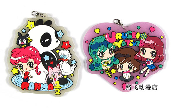 2019 New Arrival Inuyasha/Ranma ½/Urusei Yatsura Original Japanese Anime Figure Rubber Mobile Phone Charms Keychain Strap
