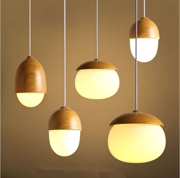 Modern Nordic simple single head creative personality nuts droplight Bedroom a buffet restaurant children room lighting
