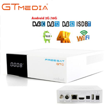 FREESAT gtmedia GTC Android 6,0 ТВ коробка DVB-S2/T2/кабель/ISDBT Amlogic S905D 2 Гб Оперативная память 16 Гб Встроенная память freesat + 1 год Бесплатная CCcam подарок