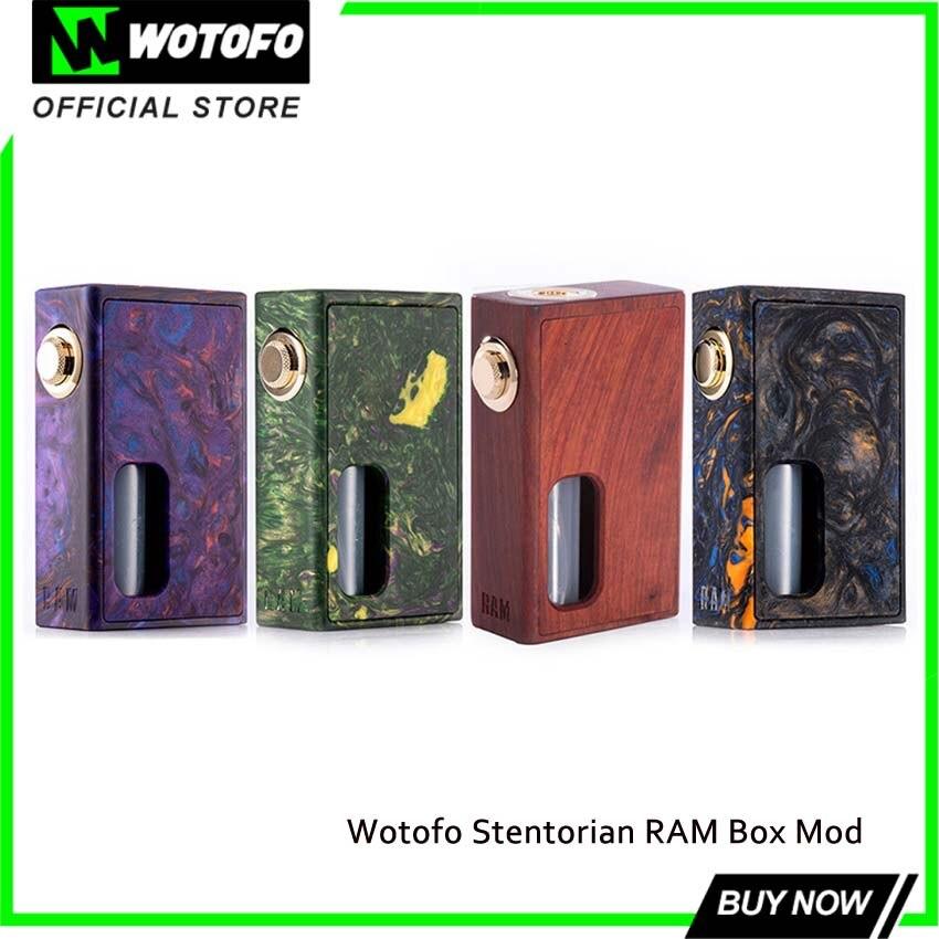 Wotofo Stentorian RAM Box Mod 7 ml BF Squonk boîte mécanique Mod Cigarettes électroniques alimentées par un 18650 e-cig Mod avec bouteille