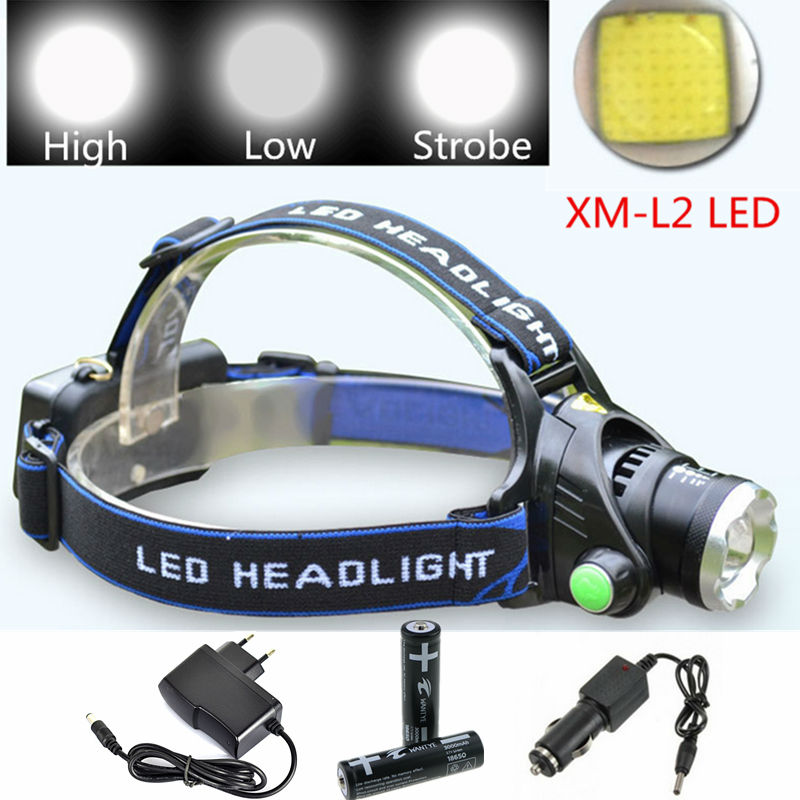 Zoomable Headlight 3800LM Zoom XML L2 LED Headlamp Rechargeable Head Light Lamp For Hunting Camping+2x18650 battery/Charger sitemap 51 xml