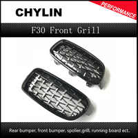 A Pair Front Kidney Grille For BMW New 3 Series F30 F35 2011 2019 Diamond Grille Meteor Style Front Bumper Grill Car Styling
