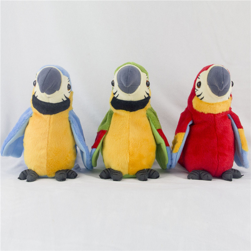 Электронные Домашние животные говорящий попугай игрушки забавные запись звука плюшевые попугай Рождественский подарок для детей ...