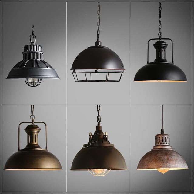 Lámpara de Techo Industrial, Retro Lámpara de Hierro de Época Luces ...