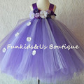 Flowers Girls Tutu Dress Sofia Princess Dress Elegant Wedding Party Ball Gown Kids Birthday Pageant Performance Tulle Dresses