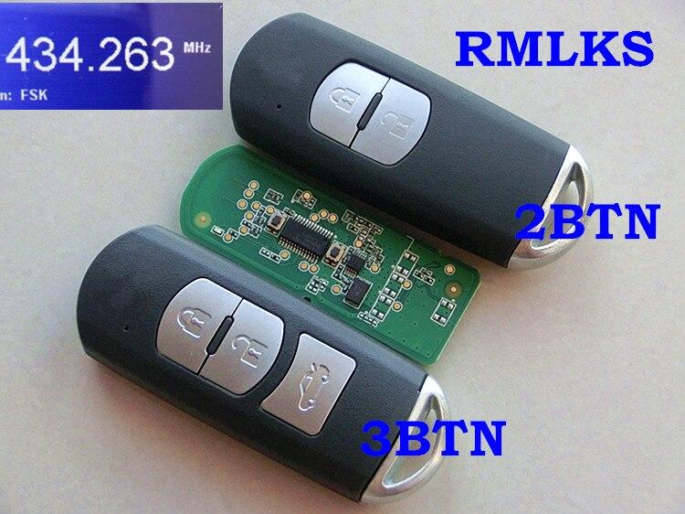 RMLKS Remplacement Nouveau Intelligent À Distance Key Fob 433 mhz Fit Pour Mazda 3 6 CX-4 CX-5 MX-5 SKE13E-01 Avec D'urgence clé