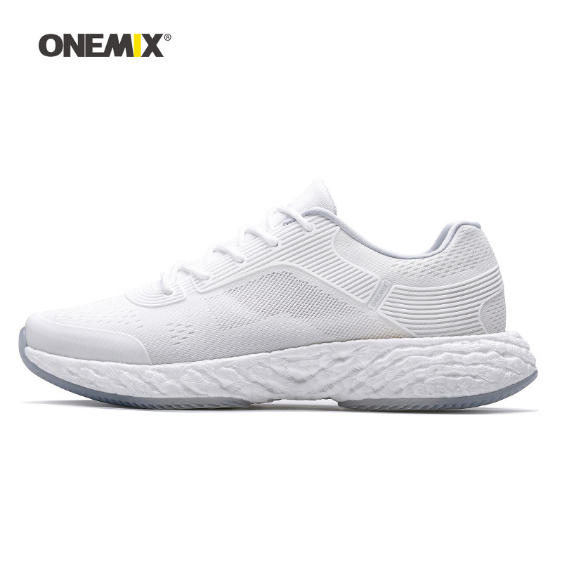 Onemix Woman Running Shoes for Women White Mesh Air Cushion Breathable Designer Jogging Sneakers Outdoor Sport Walking Trainers 2018 autumn sneakers women breathable mesh running shoes damping sport shoes woman outdoor blue walking zapatos de mujer betis