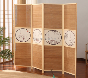 Classical Japanese wood screens wood dividers Bamboo folding room screens outdoor divider screens room dividers curtains