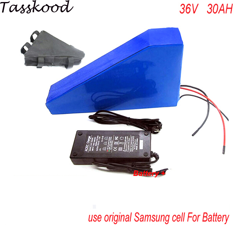 Triangle style electric bike battery 36v 30ah /ebike battery 36v 1000w BMS control ebike kit with BMS,charger For Panasonic Cell triangle style ebike battery 51 8v 30ah 1500w electric bike battery with bms lithium battery 52v battery pack for panasonic cell