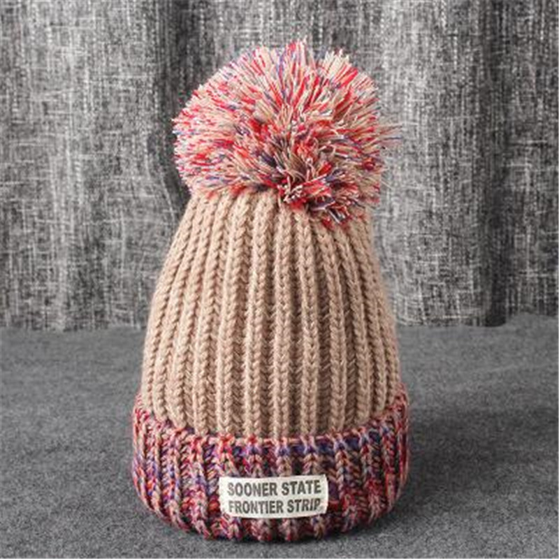 [aide chebi]Skullies & Beanies Woolen Hat Winter Hat For Women's Hat Beanie Woven Warm  pom winter hats for women skullies