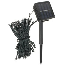 Hot Sale 100 LED 17M Solar Power Waterproof  IP44 Outdoor Garden Christmas Party Decoration String Fairy Strip Light Lamp