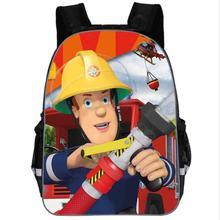 Cartoon Fireman Sam School Bags for Boys 2019 New Schoolbags for Children Bool