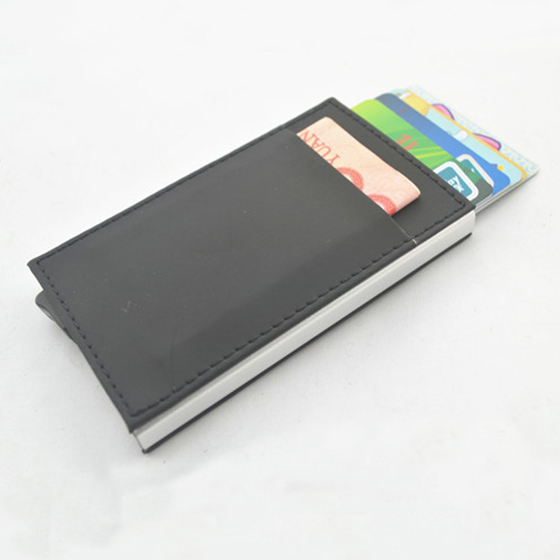 New porte carte PU thin Top Brand Business ID Credit Card Holder ...