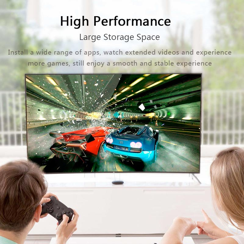 Xiao mi Box S 4 K TV Box Cortex-A53 Quad Core 64 bits Mali-450 1000Mbp Android 8.1 2 GB + 8 GB HD mi 2.0 2.4G/5.8G WiFi BT4.2 TV Box - 2