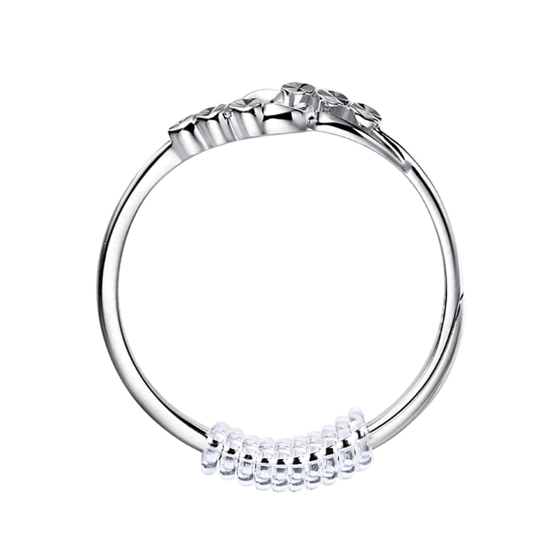 Ring Size Adjuster with Silver Polishing Cloth,Set of 4 (2mm/3mm)