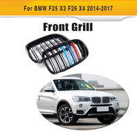 For X3 X4 Car Style ABS Auto Black Front Grill Grille For BMW F25 X3 F26 X4 2014 2017