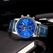 цена Luxury Brand Mens watches Casual Analog Leather Watches Men Sport Quartz Business Wristwatch relojes hombre AC019 онлайн в 2017 году