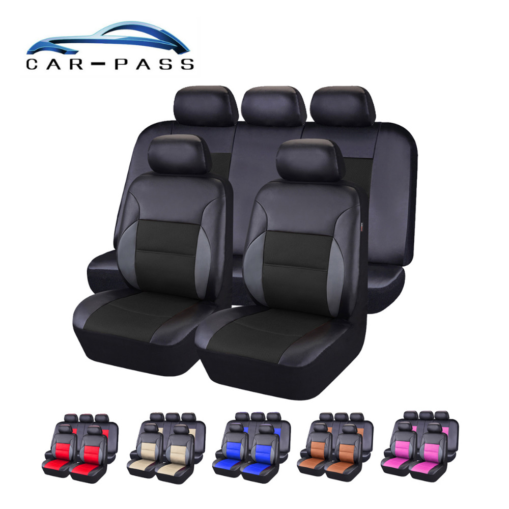 Closeout Car Pass Pvc Leather Car Seat Cover Universal Seat Covers
