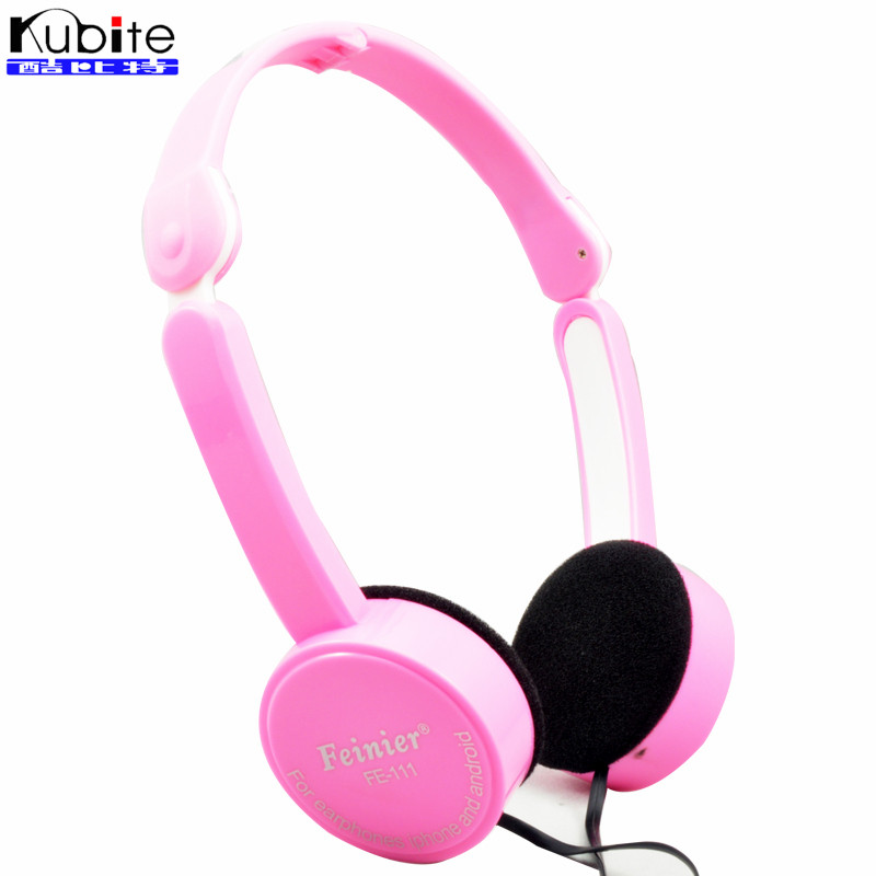 Kubite Foldable Portable Headphone Child Game Headset 3 5mm Earphone With Mic Wire Control For Phone