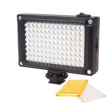 Светодиодный видеоподсвет для фотокамеры 112 светодиодов с желтым и белым фильтрами на свадьбе для Canon Nikon