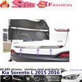 Car stainless steel Rear Bumper trunk trim plate lamp frame threshold pedal hoods part moulding 1pcs For Kia Sorento L 2015 2016