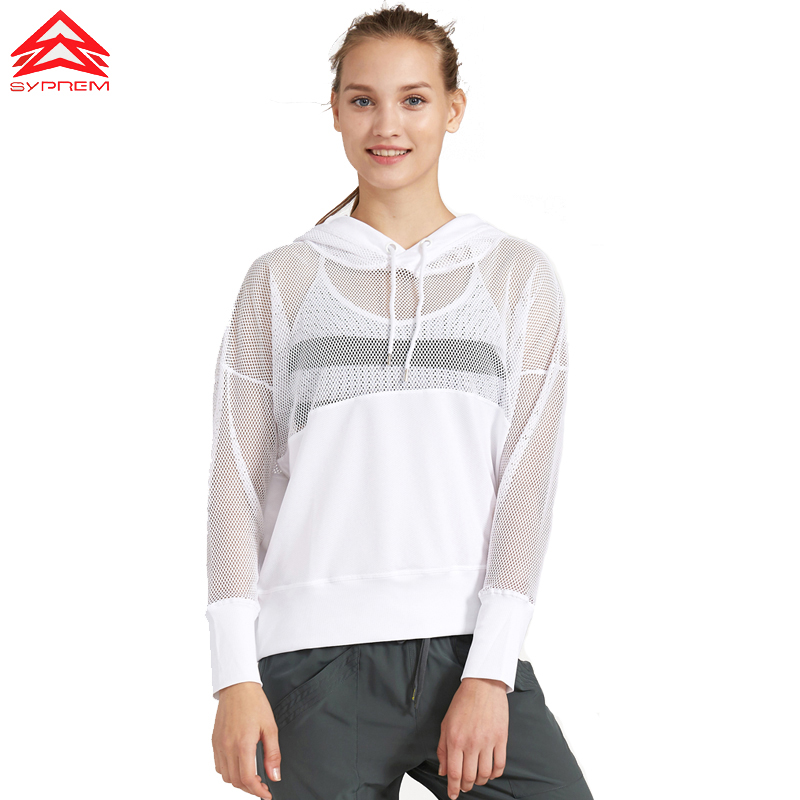 Kvinder Langærmet Hoodies Hollow Out Solid Color Sort Sportstrøjer Soft Running Shirts Hvid Yoga Top Workout Klæder, 1fp8040