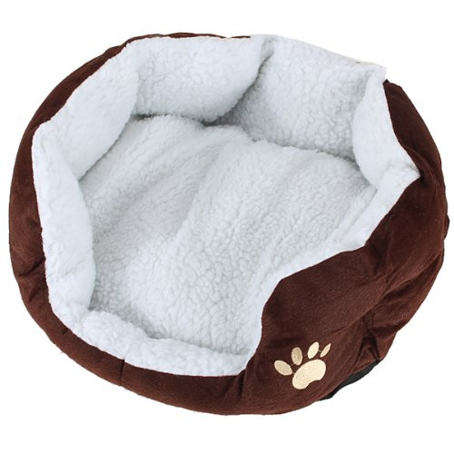 Cart Basket Niche removable cushion House Bed For Dog Cat Pet Size S 46*42*15cm COFFE