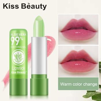 New Lady Aloe Lip Balm Hot Aloe Moisturizing Moisturizing Lipstick Long Lasting Waterproof Beauty Makeup TSLM2